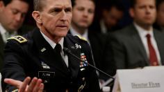 US Army Lt General Flynn testifies before House Intelligence Committee in Washington