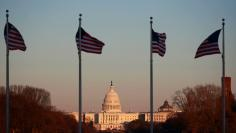 The U.S. Capitol Building is shown at sunset in Washington