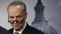 Sen. Schumer attends a news conference on Amtrak funding on Capitol Hill in Washington