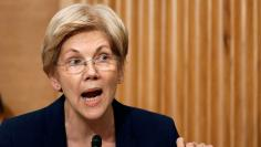 Senator Warren questions Wells Fargo CEO Stumpf at Senate Banking Committee hearing on firm's sales practices on Capitol Hill in Washington