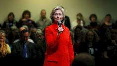 U.S. Democratic presidential candidate Hillary Clinton speaks at a campaign town hall meeting in Keene
