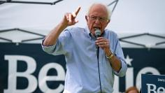2020 Democratic U.S. presidential candidate and U.S. Senator Bernie Sanders speaks during a campaign event in West Branch, Iowa