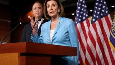 U.S. House Speaker Pelosi and Rep. Schiff hold news conference at the U.S. Capitol in Washington