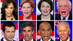 FILE PHOTO: FILE PHOTO: Combination photos of eight 2020 Democratic presidential candidates