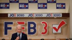 Democratic 2020 U.S. presidential candidate and former U.S. Vice President Joe Biden speaks during a campaign event in Ames, Iowa