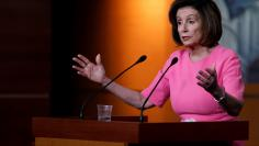 Speaker of the House Pelosi speaks during a news conference, following a Senate vote on the coronavirus relief bill on Capitol Hill in Washington