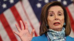 U.S. House Speaker Pelosi holds coronavirus response news conference on Capitol Hill in Washington