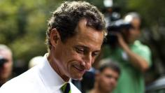 New York City Democratic mayoral candidate Weiner leaves a polling center after casting his vote during the primary election in New York