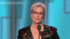 Meryl Streep at The Golden Globes - 2017