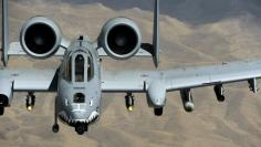 A U.S. Air Force A-10 Thunderbolt aircraft from Bagram Air Base flies a combat mission over Afghanistan