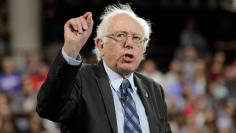 U.S. Democratic presidential candidate Sen. Bernie Sanders (I-VT) delivers an address to Liberty University students in Lynchburg