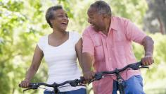 Seniors on bikes