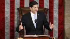 Newly elected Speaker of the U.S. House of Representatives Ryan addresses the House for the first time on Capitol Hill in Washington