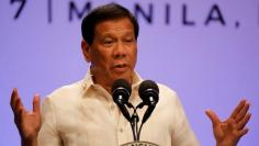 Philippine President Rodrigo Duterte speaks during a news conference after concluding the 30th Association of Southeast Asian Nations (ASEAN) summit in Manila