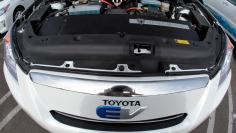 FILE PHOTO: A Toyota RAV4 EV car with a Tesla battery is seen at the AltCar Expo in Santa Monica