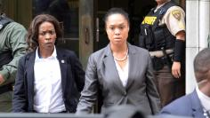 City State's Attorney Marilyn Mosby departs the courthouse in Baltimore