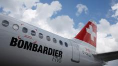 File photo of a Bombardier C Series aircraft at the Singapore Airshow at Changi Exhibition Center