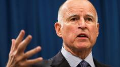 FILE PHOTO: California Governor Brown speaks in Sacramento