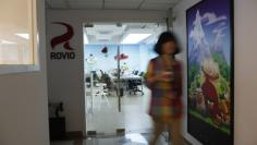 An employee walks out an office of Rovio, the company which created the video game Angry Birds, in Shanghai June 20, 2012.  REUTERS/Aly Song
