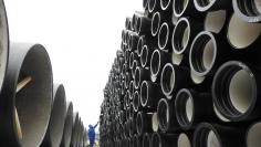 Metal tubes for export are seen at Lianyungang port in Jiangsu province, China January 31, 2018. China Daily via REUTERS