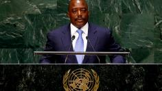 FILE PHOTO: Joseph Kabila, President of the Democratic Republic of the Congo, addresses the 69th United Nations General Assembly at the U.N. headquarters in New York