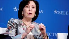 FILE PHOTO - Safra A. Catz, Chief Executive Officer, Oracle, speaks at 2017 SelectUSA Investment Summit in Oxon Hill, Maryland, U.S., June 19, 2017. REUTERS/Joshua Roberts