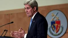 U.S. Secretary of State John Kerry delivers remarks on the U.S. foreign policy agenda for 2016 at at the National Defense University in Washington