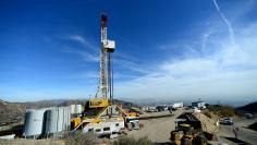 Crews from Southern California Gas Company and outside experts work on a relief well at the Aliso Canyon gas field above the Porter Ranch section of northwest Los Angeles