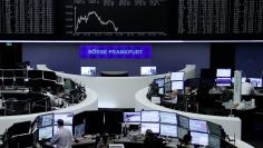 The German share price index, DAX board, is seen at the stock exchange in Frankfurt, Germany, January 30, 2018.    REUTERS/Staff/Remote