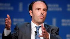 FILE PHOTO: Kyle Bass, Chief Investment Officer of Hayman Capital Management, speaks at the Milken Institute Global Conference in Beverly Hills