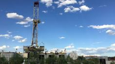 The Elevation Resources drilling rig is shown at the Permian Basin drilling site in Andrews County, Texas, U.S. on May 16, 2016. REUTERS/Ann Saphir/File Photo