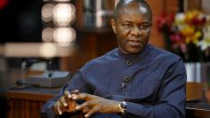 Nigerian Oil Minister Emmanuel Ibe Kachiwku speaks during an interview with Reuters in Abuja