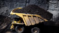 Mining operations during a tour of Peabody Energy's North Antelope Rochelle coal mine near Gillette