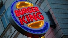 The logo of Burger King is seen outside a shop in Vienna