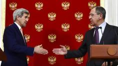 Russian Foreign Minister Lavrov and U.S. Secretary of State Kerry attend news conference in Moscow