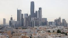 View shows the King Abdullah Financial District, north of Riyadh