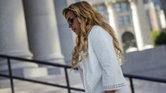 New York financier Lynn Tilton arrives for an appeal hearing at the U.S. District courthouse in New York, September 16, 2015. REUTERS/Brendan McDermid