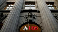 The logo of Swiss bank UBS is seen at the company's headquarters in Zurich
