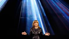 General Motors Chairman and CEO Mary Barra speaks during a keynote address at the 2016 CES trade show in Las Vegas, Nevada January 6, 2016. REUTERS/Steve Marcus