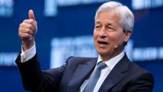 FILE PHOTO: Dimon, Chairman and CEO of JPMorgan Chase & Co. speaks during the Milken Institute Global Conference in Beverly Hills
