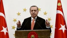 Turkish President Erdogan addresses governors during a meeting in Ankara