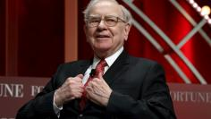 Buffett, chairman and CEO of Berkshire Hathaway, prepares to speak at the Fortune's Most Powerful Women's Summit in Washington