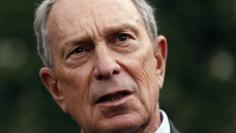 New York Mayor Bloomberg speaks to reporters after his meeting regarding gun violence with U.S. Vice President Biden in Washington