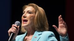 Former Hewlett-Packard Co Chief Executive and Republican U.S. presidential candidate Carly Fiorina speaks during the Freedom Summit in Greenville