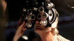 A man receives an eye exam in a file photo.   REUTERS/Joshua Roberts