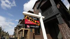 FILE PHOTO - Sold homes are seen in the southwest area of Portland, Oregon March 20, 2014. REUTERS/Steve Dipaola