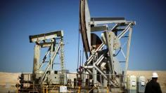 FILE PHOTO - Pump jacks drill for oil in the Monterey Shale California