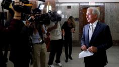 Sen. Bob Corker (R-TN) speaks with reporters after announcing his retirement at the conclusion of his term on Capitol Hill in Washington, U.S., September 26, 2017. REUTERS/Aaron P. Bernstein
