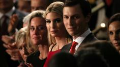 File Photo: Ivanka Trump, her husband Jared Kushner applaud another guest saluted by President Donald Trump during his speech to Congress.