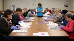 Ballots from the 2016 U.S. presidential election are recounted, following a request by the Green Party, in Madison